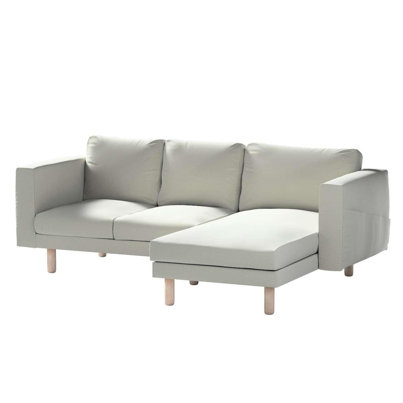Pokrowiec na sofę Norsborg 3-osobową z szezlongiem w kolekcji Ingrid, tkanina: 705-41