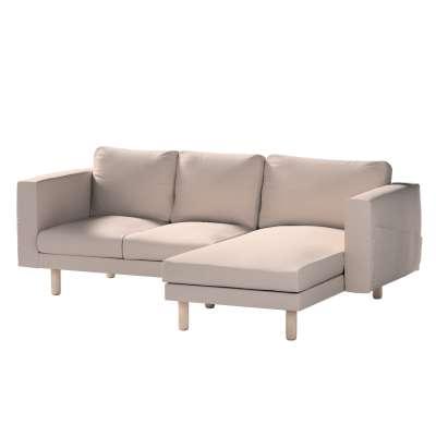 Pokrowiec na sofę Norsborg 3-osobową z szezlongiem w kolekcji Living, tkanina: 160-85