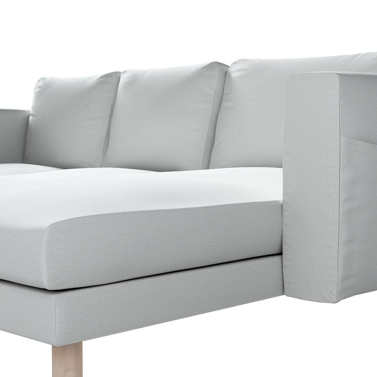 Pokrowiec na sofę Norsborg 3-osobową z szezlongiem w kolekcji Living, tkanina: 161-18