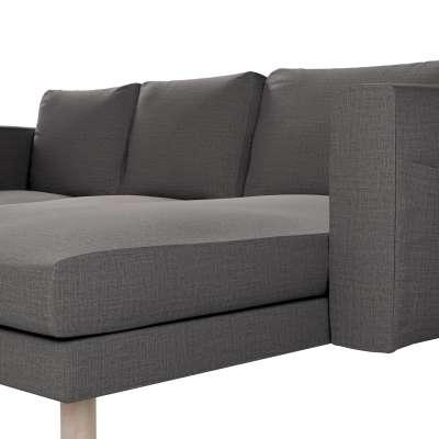 Pokrowiec na sofę Norsborg 3-osobową z szezlongiem w kolekcji Living, tkanina: 161-16