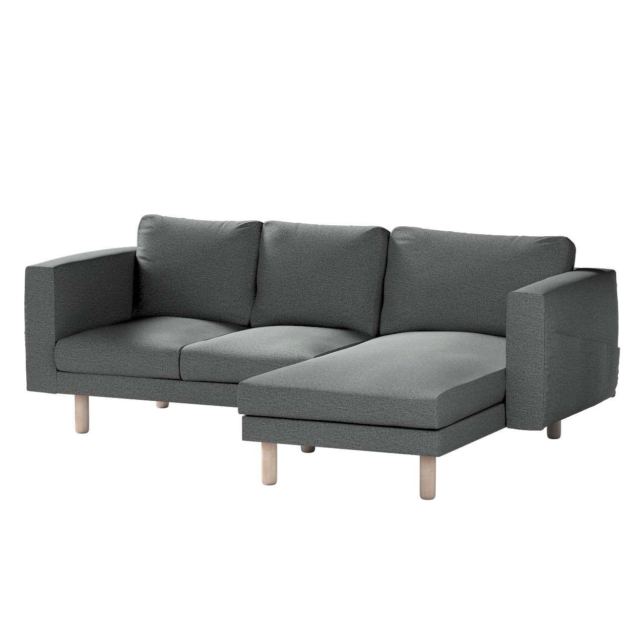 Pokrowiec na sofę Norsborg 3-osobową z szezlongiem w kolekcji Madrid, tkanina: 161-24