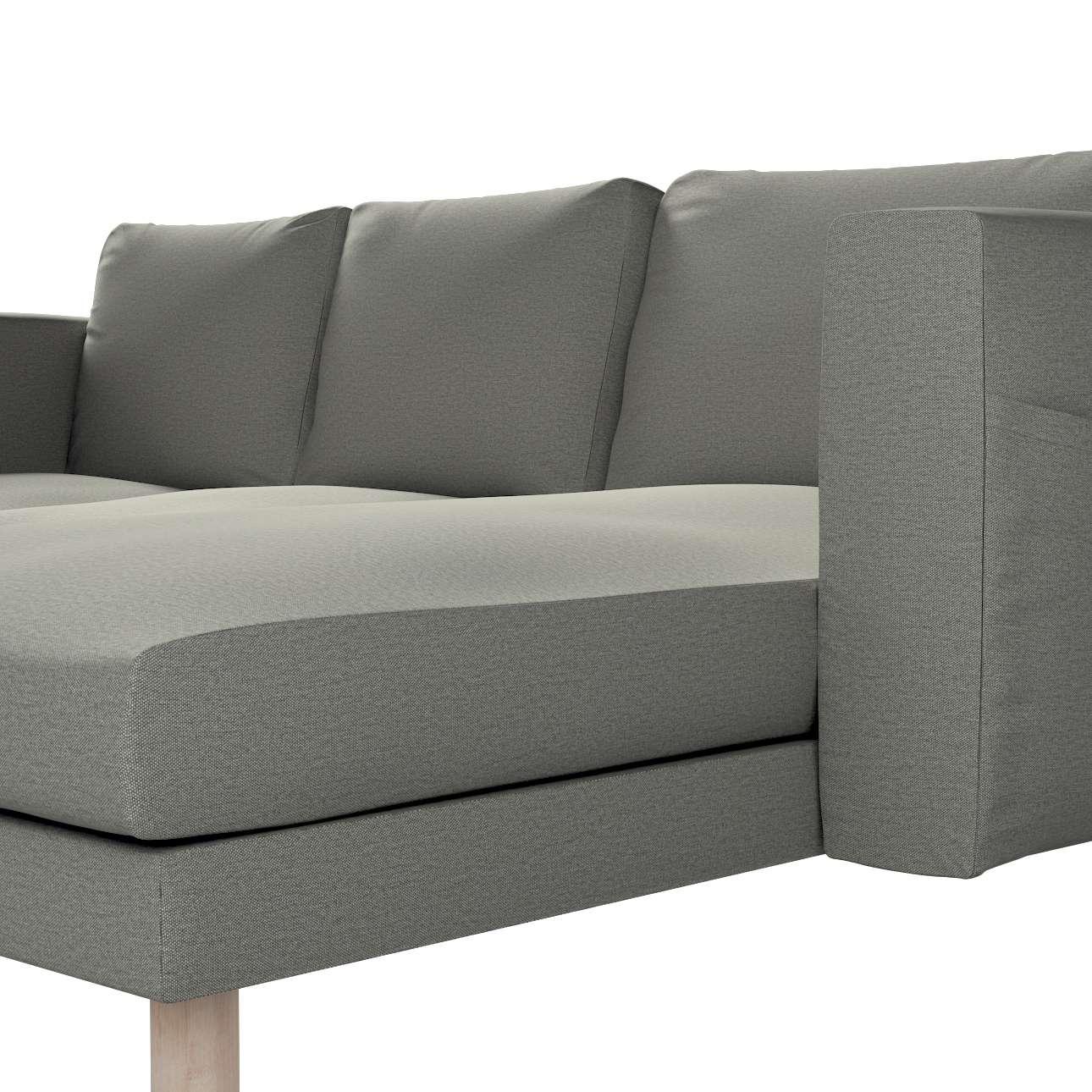 Pokrowiec na sofę Norsborg 3-osobową z szezlongiem w kolekcji Etna, tkanina: 161-25