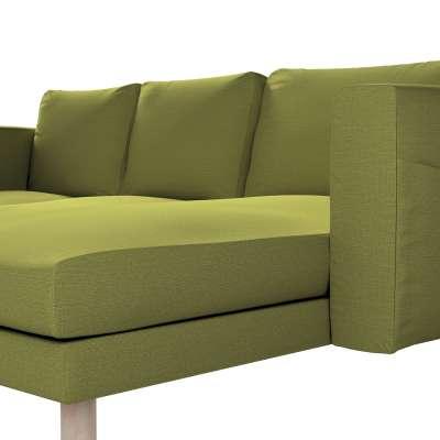 Pokrowiec na sofę Norsborg 3-osobową z szezlongiem w kolekcji Living, tkanina: 161-13