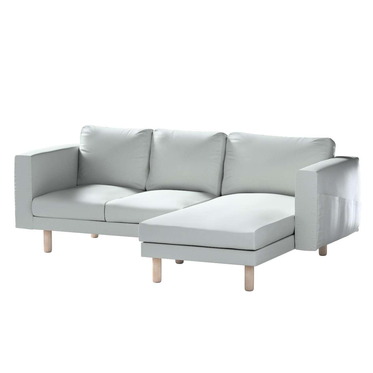 Pokrowiec na sofę Norsborg 3-osobową z szezlongiem w kolekcji Bergen, tkanina: 161-72