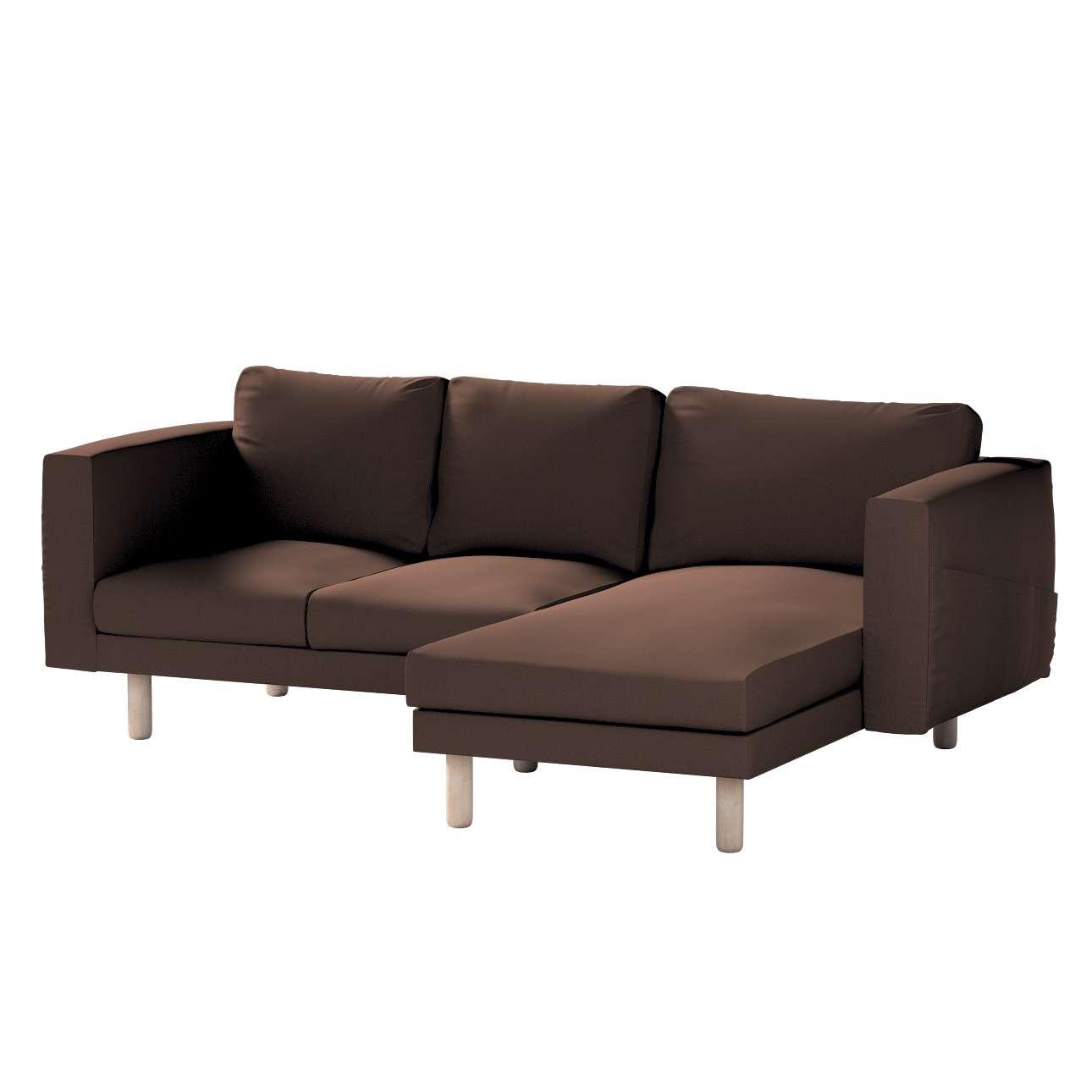 Pokrowiec na sofę Norsborg 3-osobową z szezlongiem w kolekcji Bergen, tkanina: 161-73
