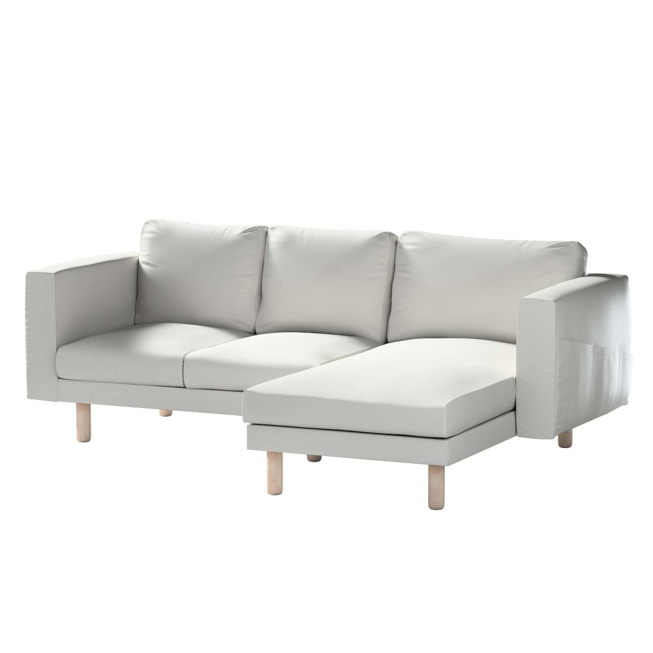 Pokrowiec na sofę Norsborg 3-osobową z szezlongiem w kolekcji Bergen, tkanina: 161-84