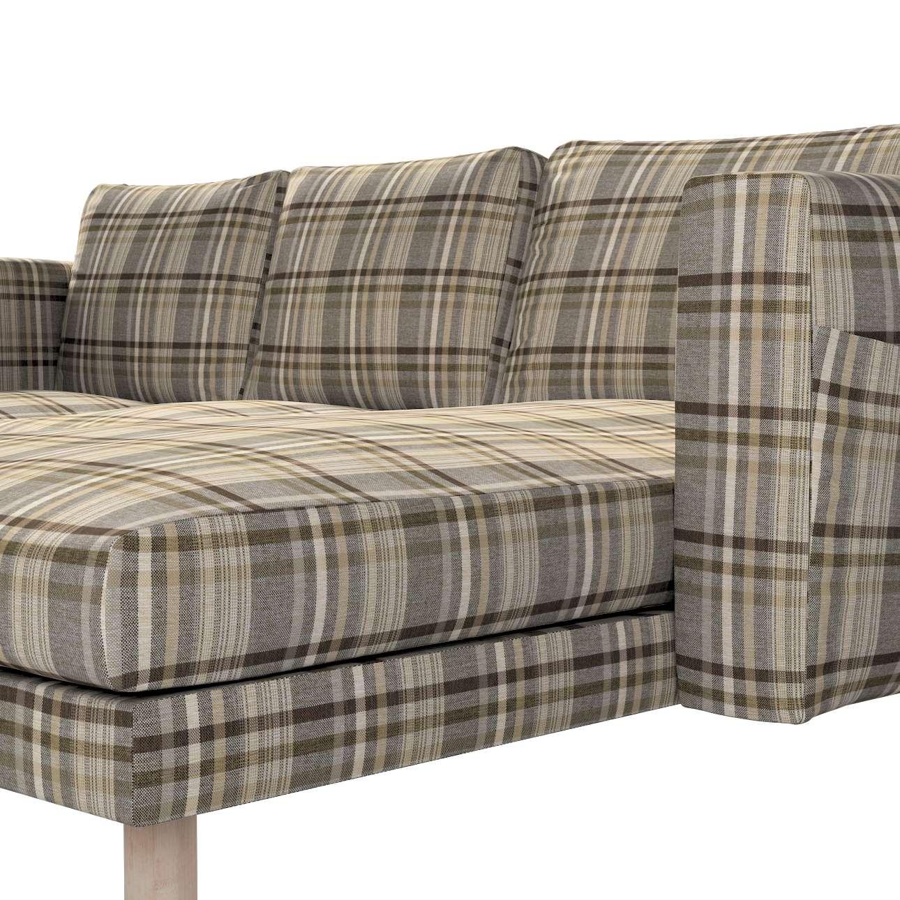 Pokrowiec na sofę Norsborg 3-osobową z szezlongiem w kolekcji Edinburgh, tkanina: 703-17