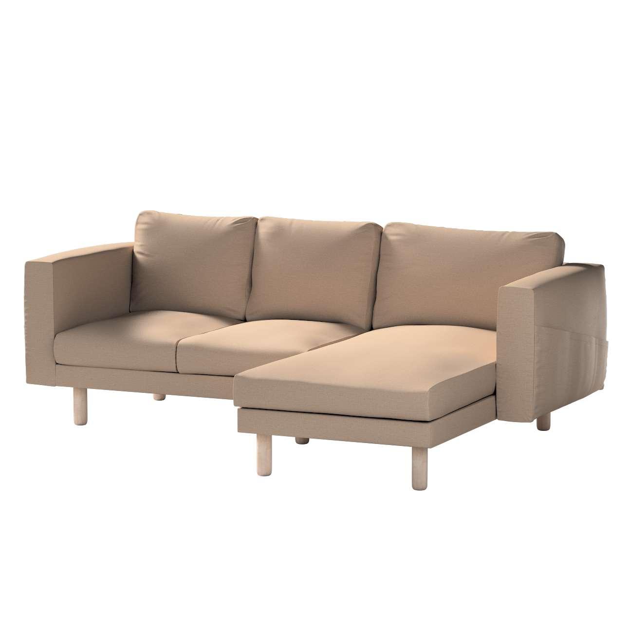 Pokrowiec na sofę Norsborg 3-osobową z szezlongiem w kolekcji Bergen, tkanina: 161-75
