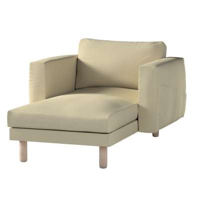 Norsborg chaise longue with armrests cover 161-45 olive-cream Collection Living