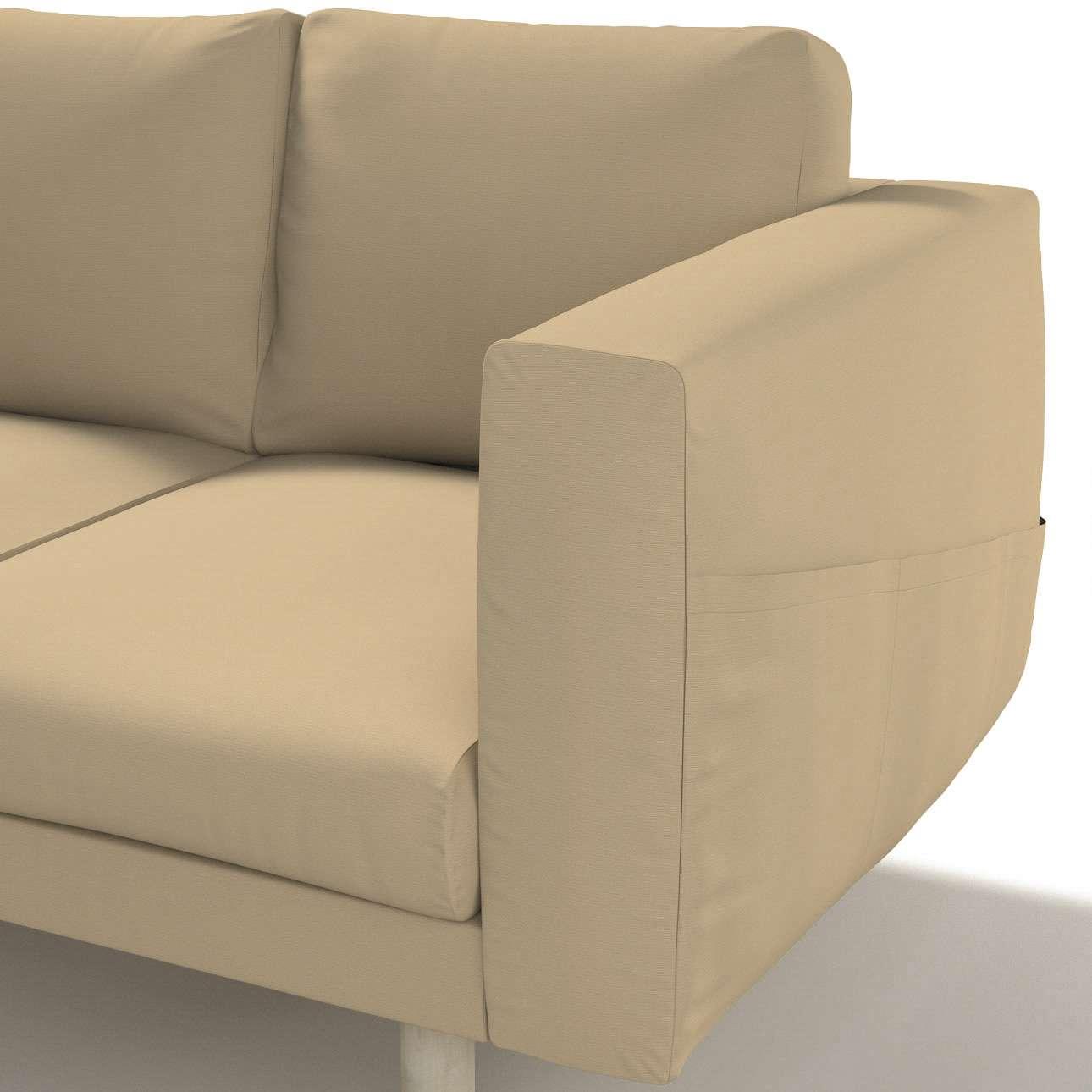 Pokrowiec na sofę Norsborg 3-osobową w kolekcji Cotton Panama, tkanina: 702-01