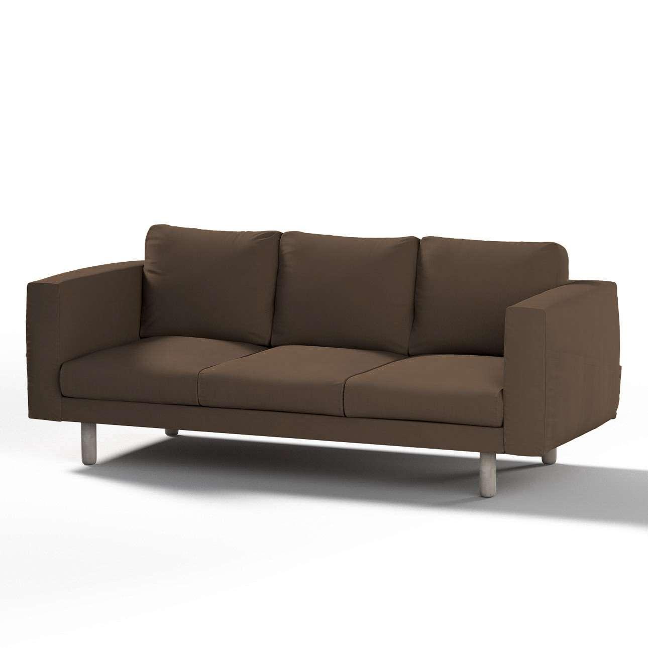 Pokrowiec na sofę Norsborg 3-osobową w kolekcji Cotton Panama, tkanina: 702-02