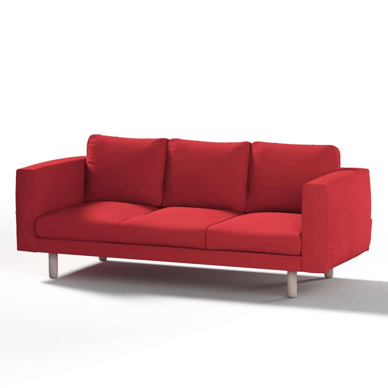 Pokrowiec na sofę Norsborg 3-osobową w kolekcji Cotton Panama, tkanina: 702-04