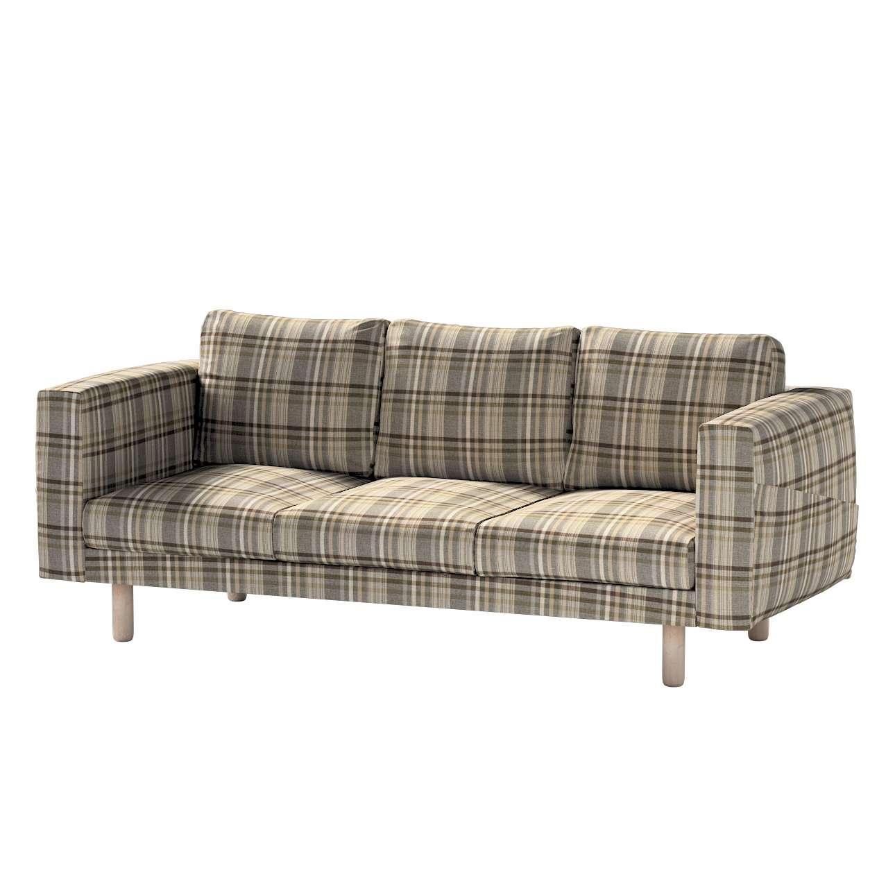 Pokrowiec na sofę Norsborg 3-osobową w kolekcji Edinburgh, tkanina: 703-17