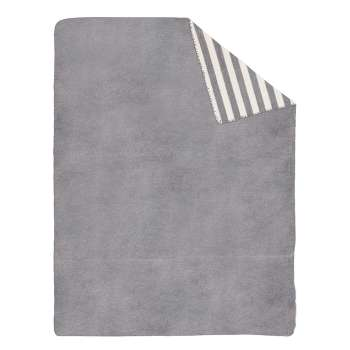 Deka Cotton Cloud 150x200cm Gray Stripes   - Dekoria-style.cz