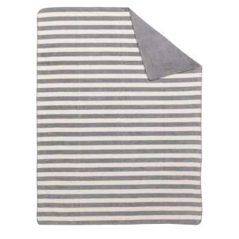 Kuscheldecke Cotton Cloud 150x200cm Gray Stripes