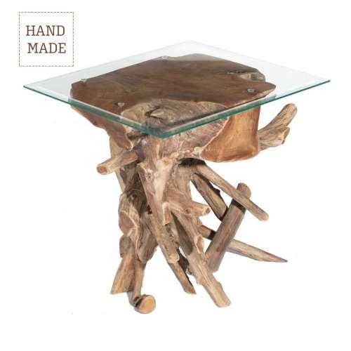 Odkládací stolek Kelimutu tmavý 61x50x65cm