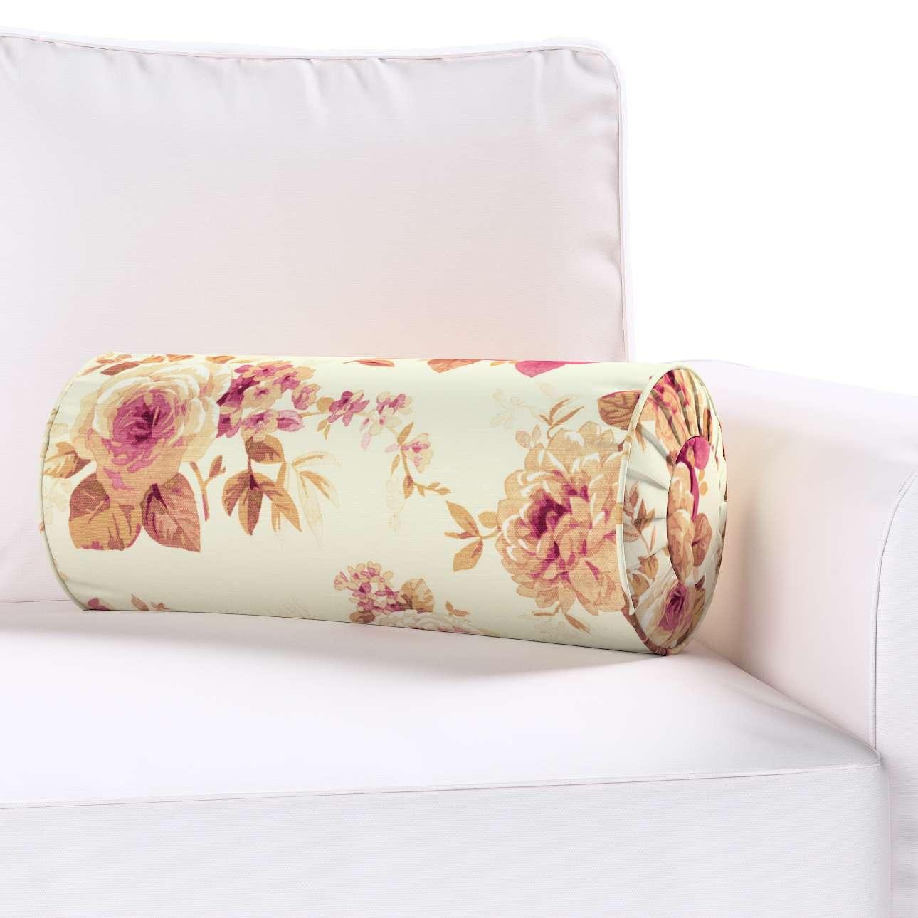 Ritinio formos  pagalvėlės užvalkalas su klostėmis Ø 20 x 50 cm kolekcijoje Mirella, audinys: 141-06