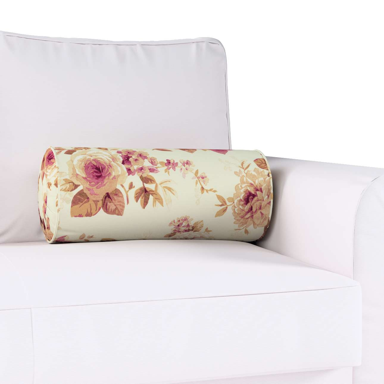 Ritinio formos  pagalvėlė su klostėmis Ø 20 x 50 cm kolekcijoje Mirella, audinys: 141-06