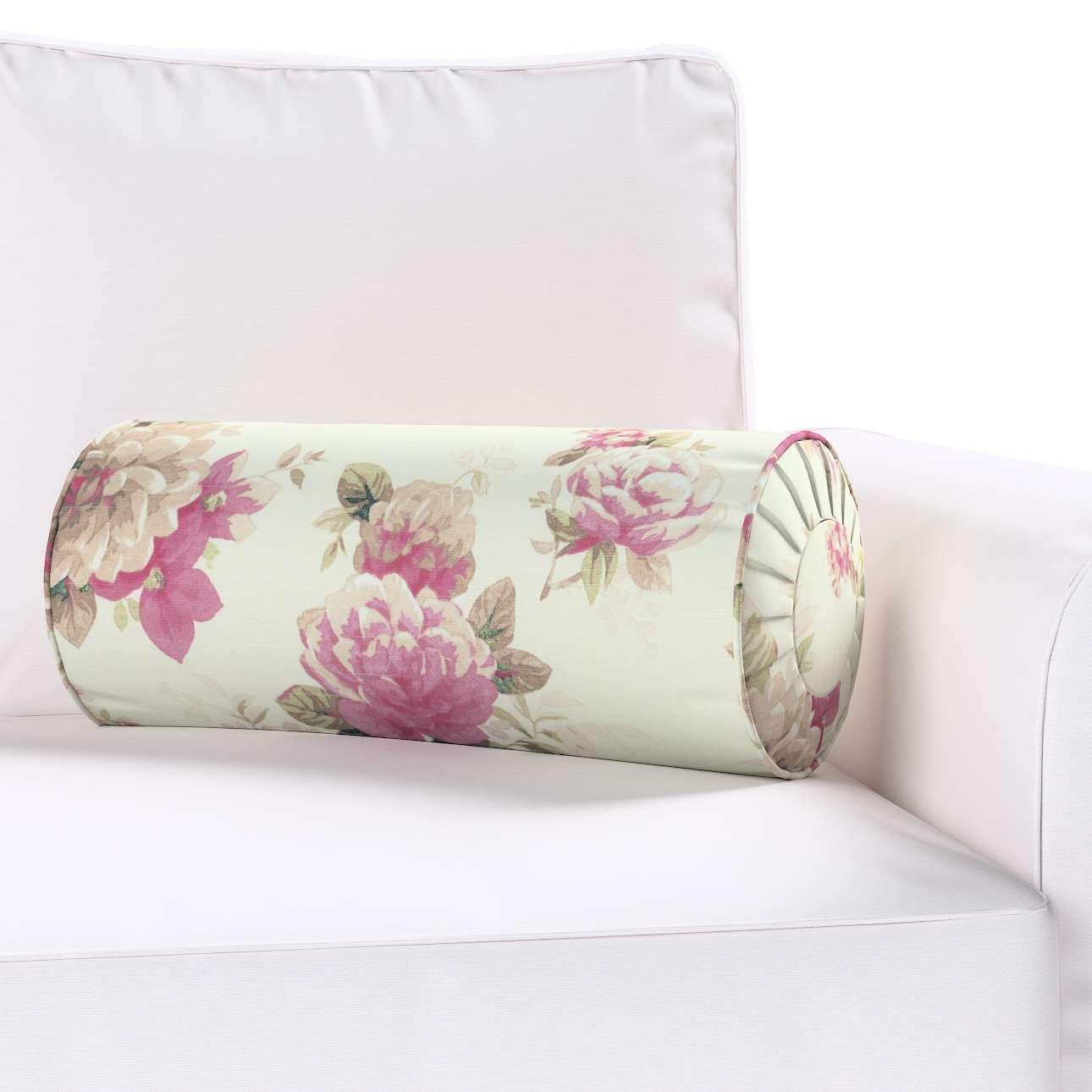 Ritinio formos  pagalvėlė su klostėmis Ø 20 × 50 cm kolekcijoje Mirella, audinys: 141-07