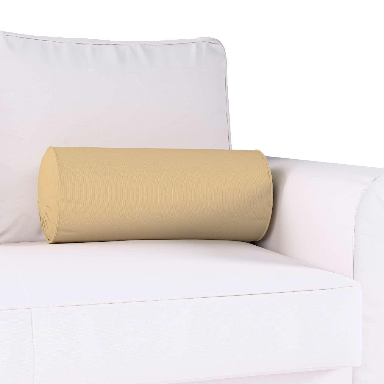 Poduszka wałek z zakładkami w kolekcji Cotton Panama, tkanina: 702-01