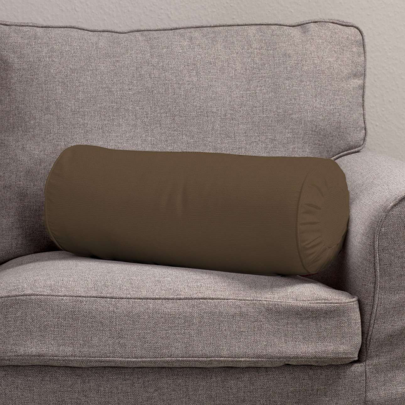 Ritinio formos  pagalvėlės užvalkalas su klostėmis Ø 20 x 50 cm kolekcijoje Cotton Panama, audinys: 702-02