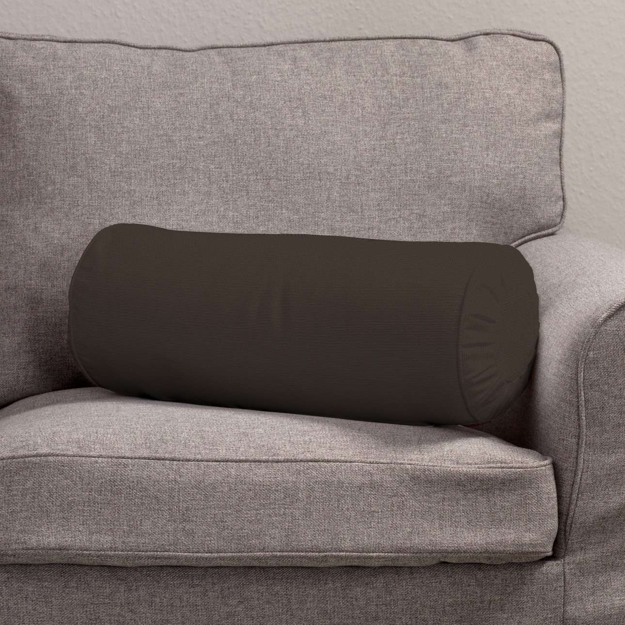 Nackkudde - pliserad kant Ø 20 x 50 cm i kollektionen Panama Cotton , Tyg: 702-03