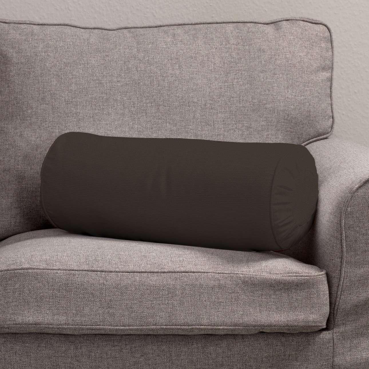 Poduszka wałek z zakładkami Ø20x50cm w kolekcji Cotton Panama, tkanina: 702-03