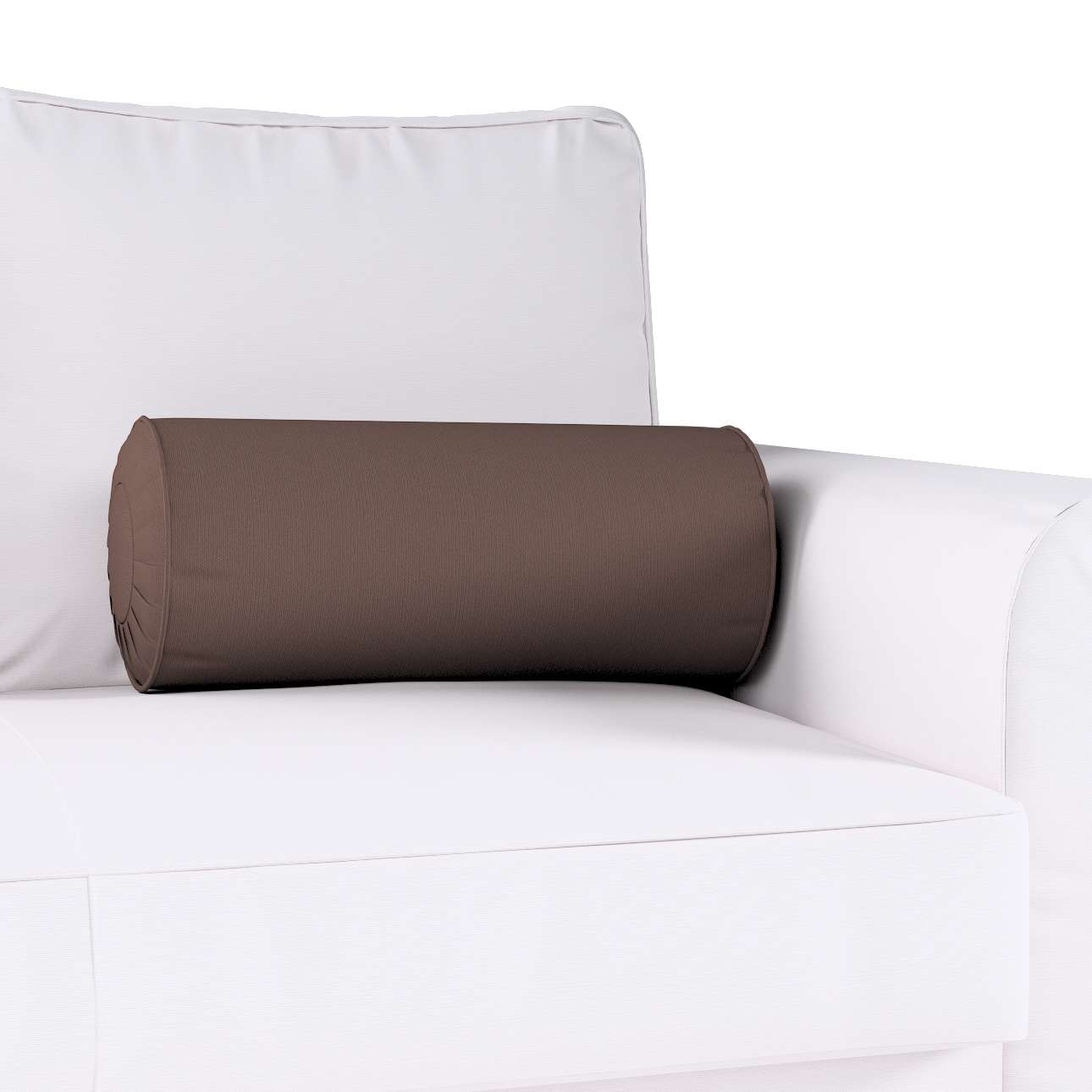 Nackkudde - pliserad kant Ø 20 × 50 cm i kollektionen Panama Cotton , Tyg: 702-03