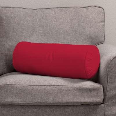Poduszka wałek z zakładkami 702-04 Scarlet Red (czerwony) Kolekcja Cotton Panama