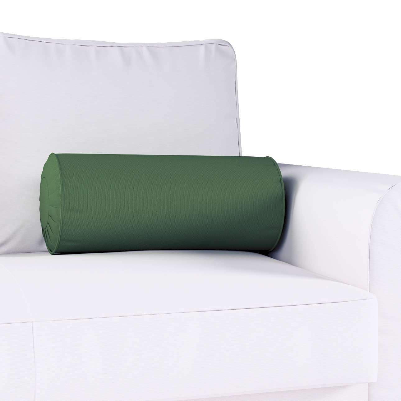Nakkepude med folder Ø 20 × 50 cm fra kollektionen Cotton Panama, Stof: 702-06