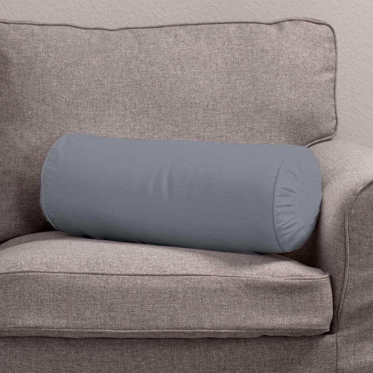 Ritinio formos  pagalvėlė su klostėmis Ø 20 x 50 cm kolekcijoje Cotton Panama, audinys: 702-07