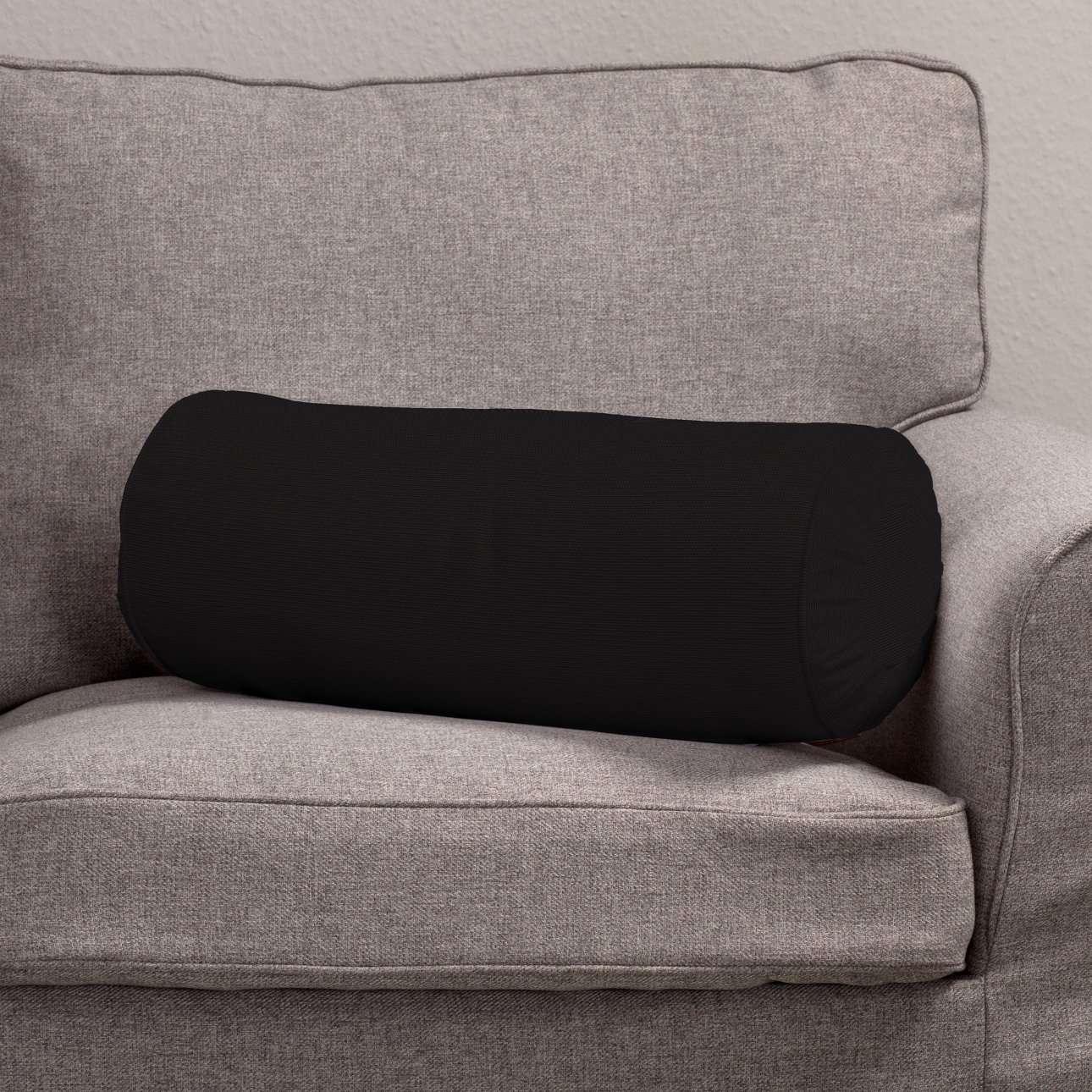 Poduszka wałek z zakładkami w kolekcji Cotton Panama, tkanina: 702-09