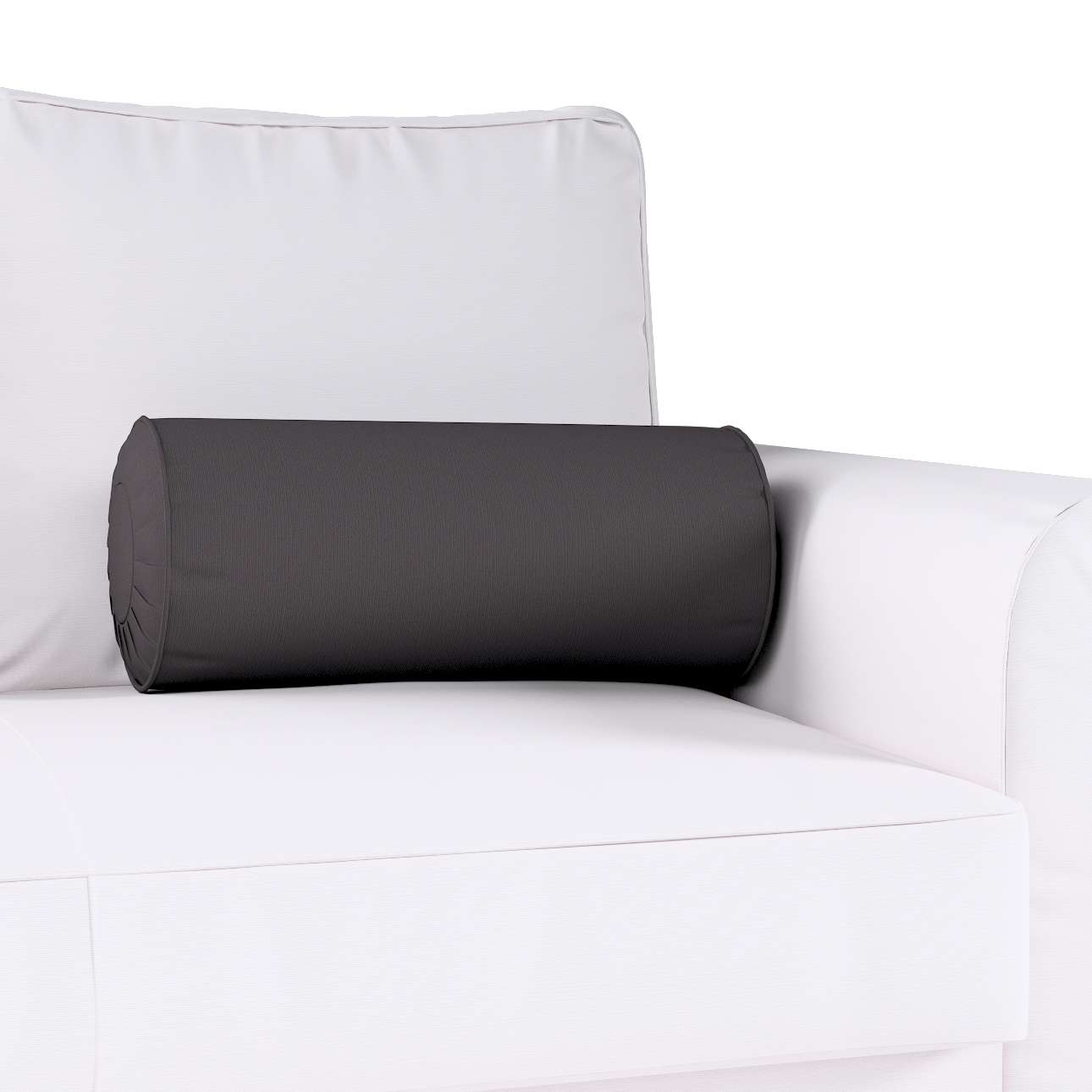 Ritinio formos  pagalvėlė su klostėmis Ø 20 x 50 cm kolekcijoje Cotton Panama, audinys: 702-09