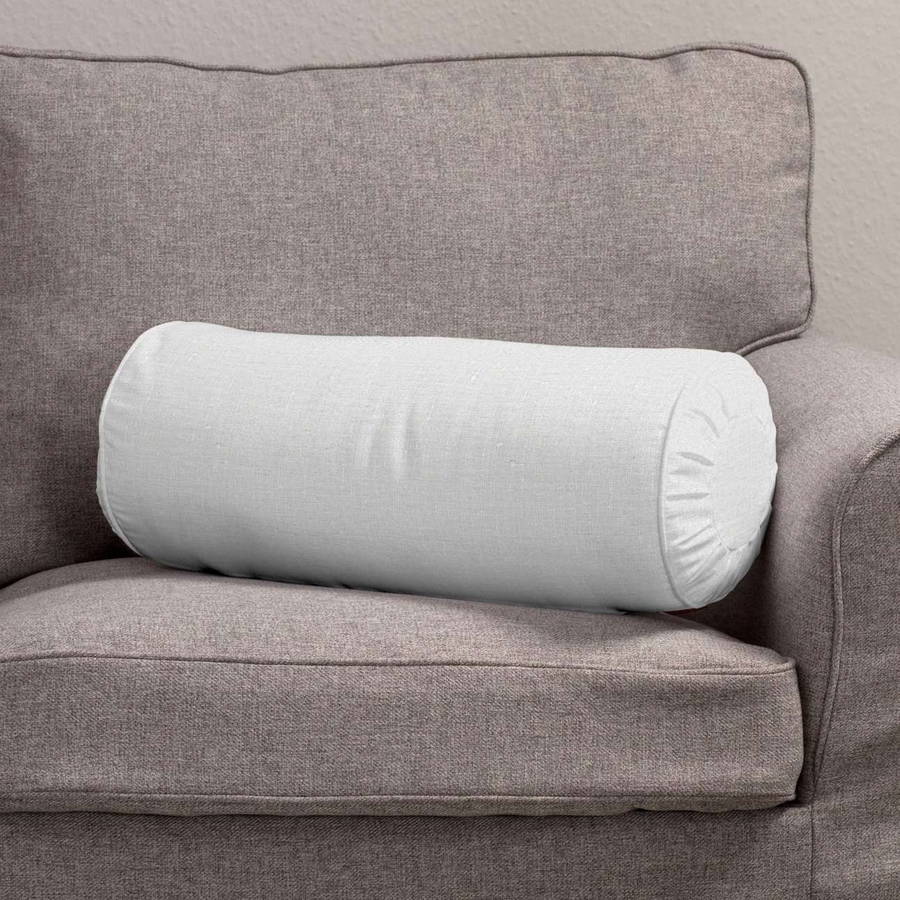 Ritinio formos  pagalvėlė su klostėmis Ø 20 x 50 cm kolekcijoje Linen , audinys: 392-04