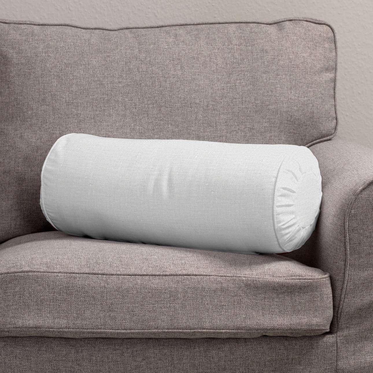 Ritinio formos  pagalvėlės užvalkalas su klostėmis Ø 20 x 50 cm kolekcijoje Linen , audinys: 392-04