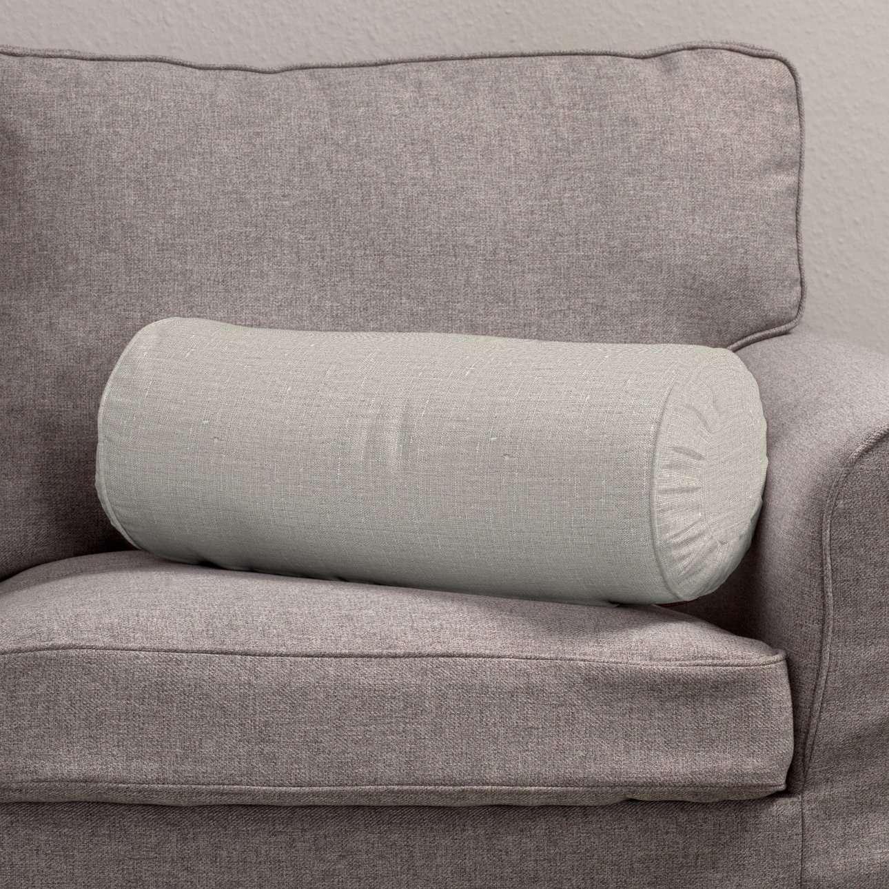 Poduszka wałek z zakładkami Ø20x50cm w kolekcji Linen, tkanina: 392-05