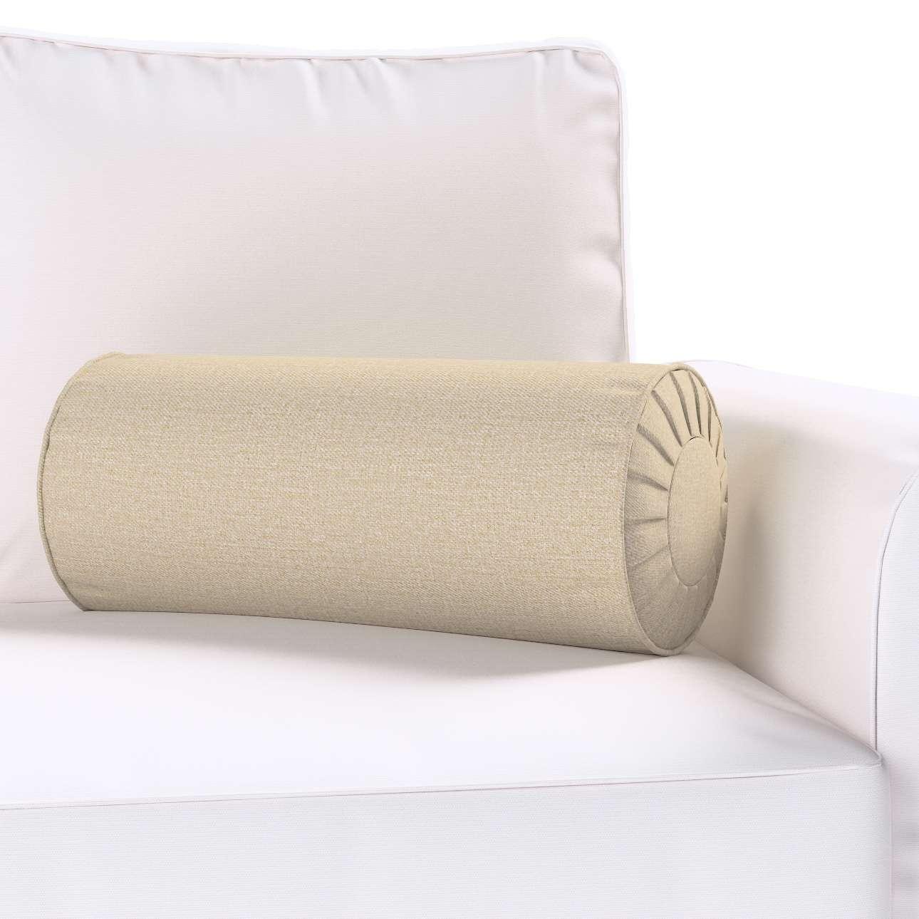 Poduszka wałek z zakładkami w kolekcji Edinburgh, tkanina: 115-78
