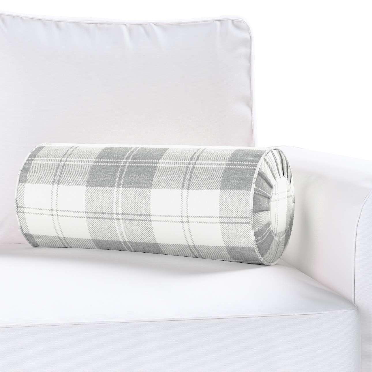 Poduszka wałek z zakładkami Ø20x50cm w kolekcji Edinburgh, tkanina: 115-79