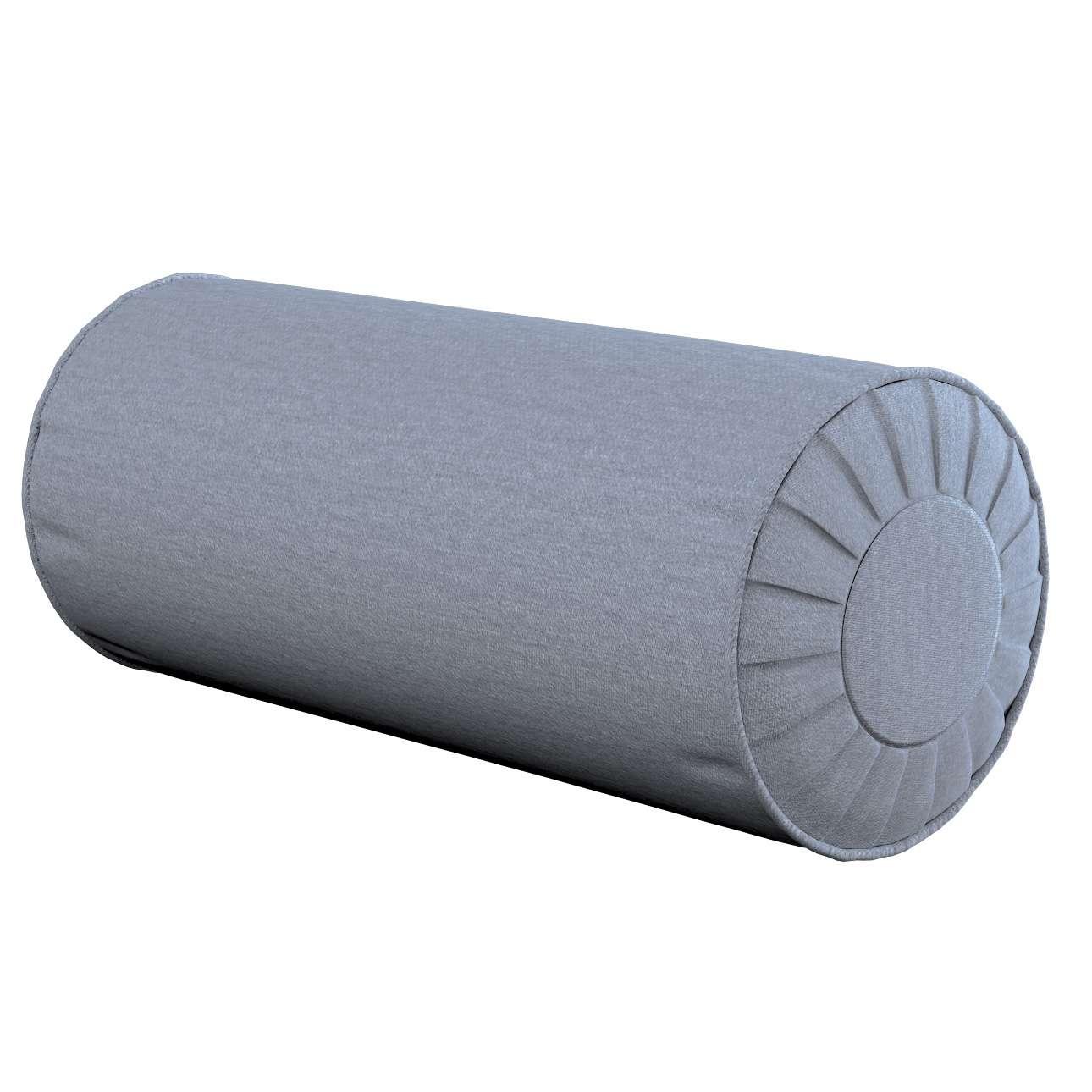 Ritinio formos  pagalvėlės užvalkalas su klostėmis Ø 20 x 50 cm kolekcijoje Chenille, audinys: 702-13