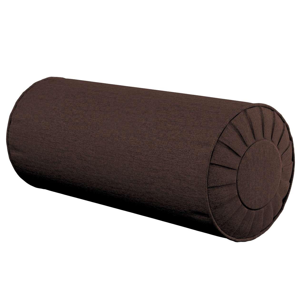 Ritinio formos  pagalvėlės užvalkalas su klostėmis Ø 20 x 50 cm kolekcijoje Chenille, audinys: 702-18