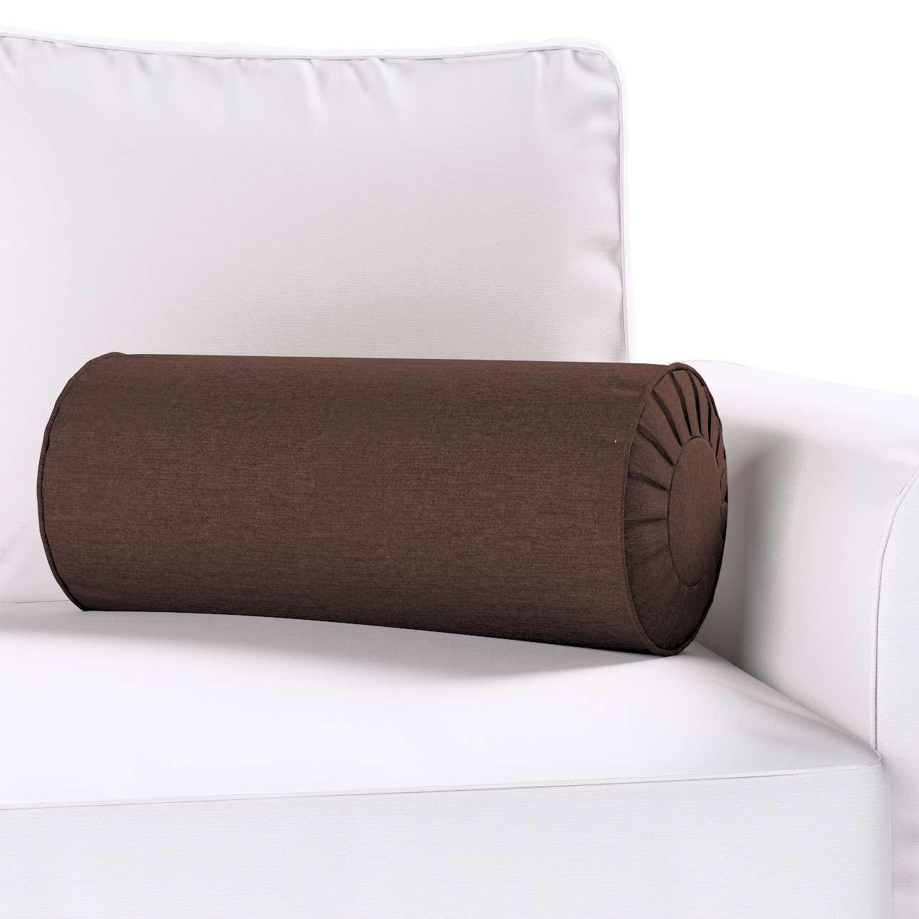 Poduszka wałek z zakładkami Ø 20 x 50 cm w kolekcji Chenille, tkanina: 702-18