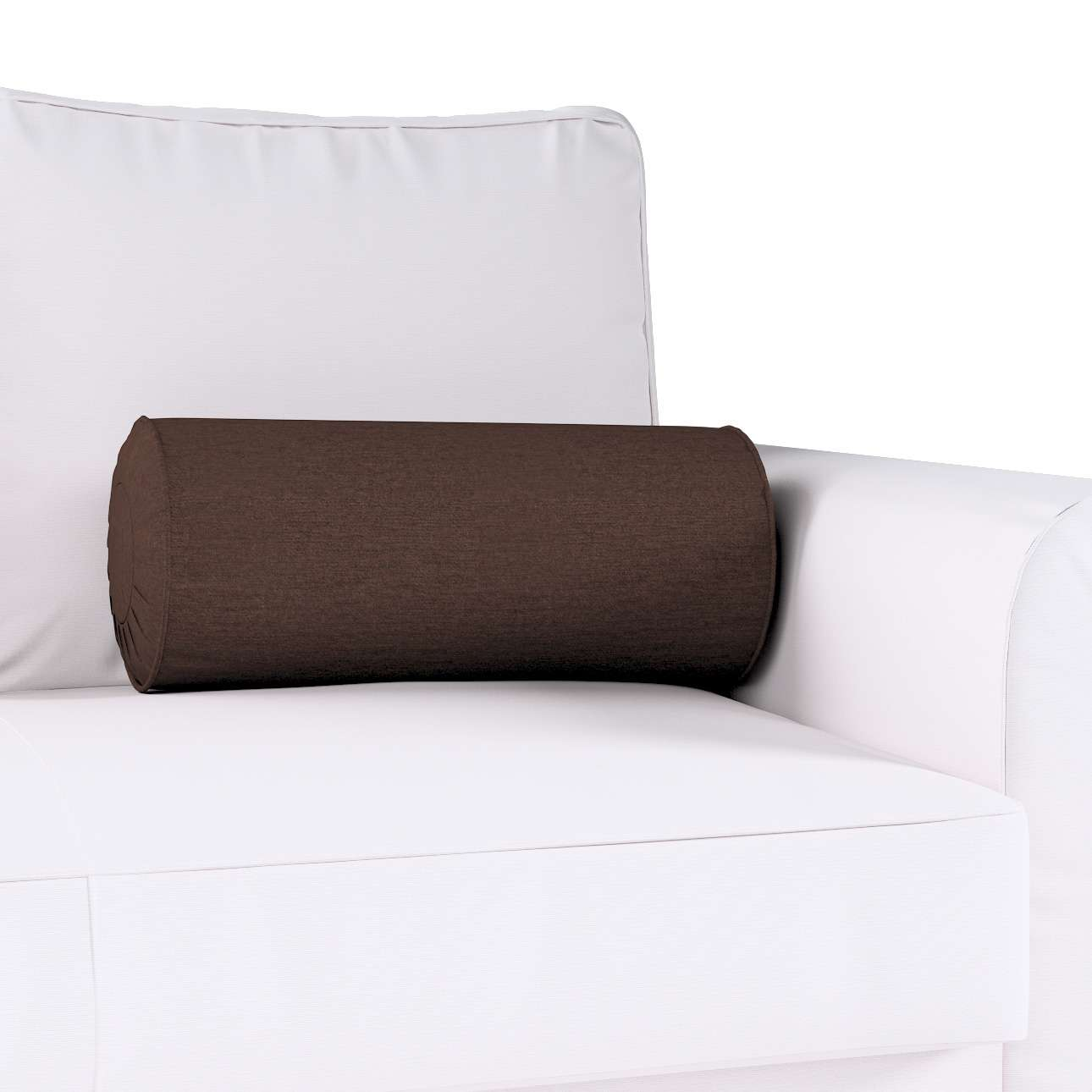 Bolster cushion with pleats Ø 20 × 50 cm (8 × 20 inch) in collection Chenille, fabric: 702-18
