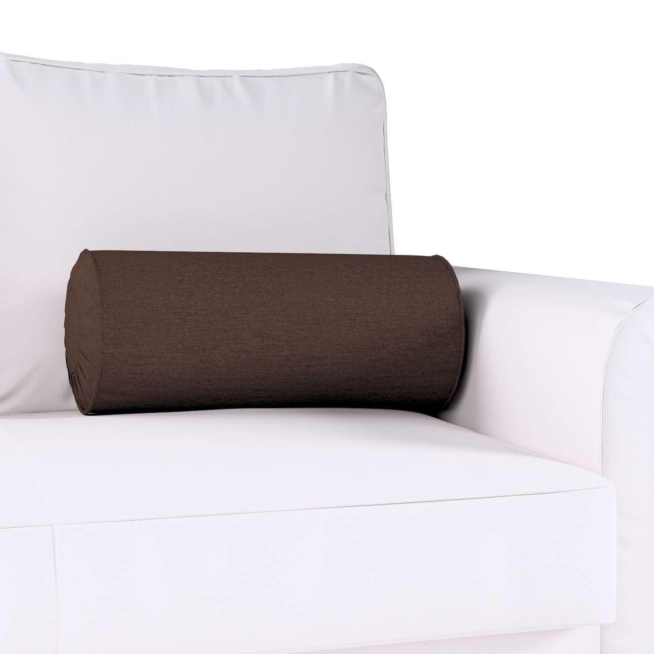 Poduszka wałek z zakładkami Ø20x50cm w kolekcji Chenille, tkanina: 702-18