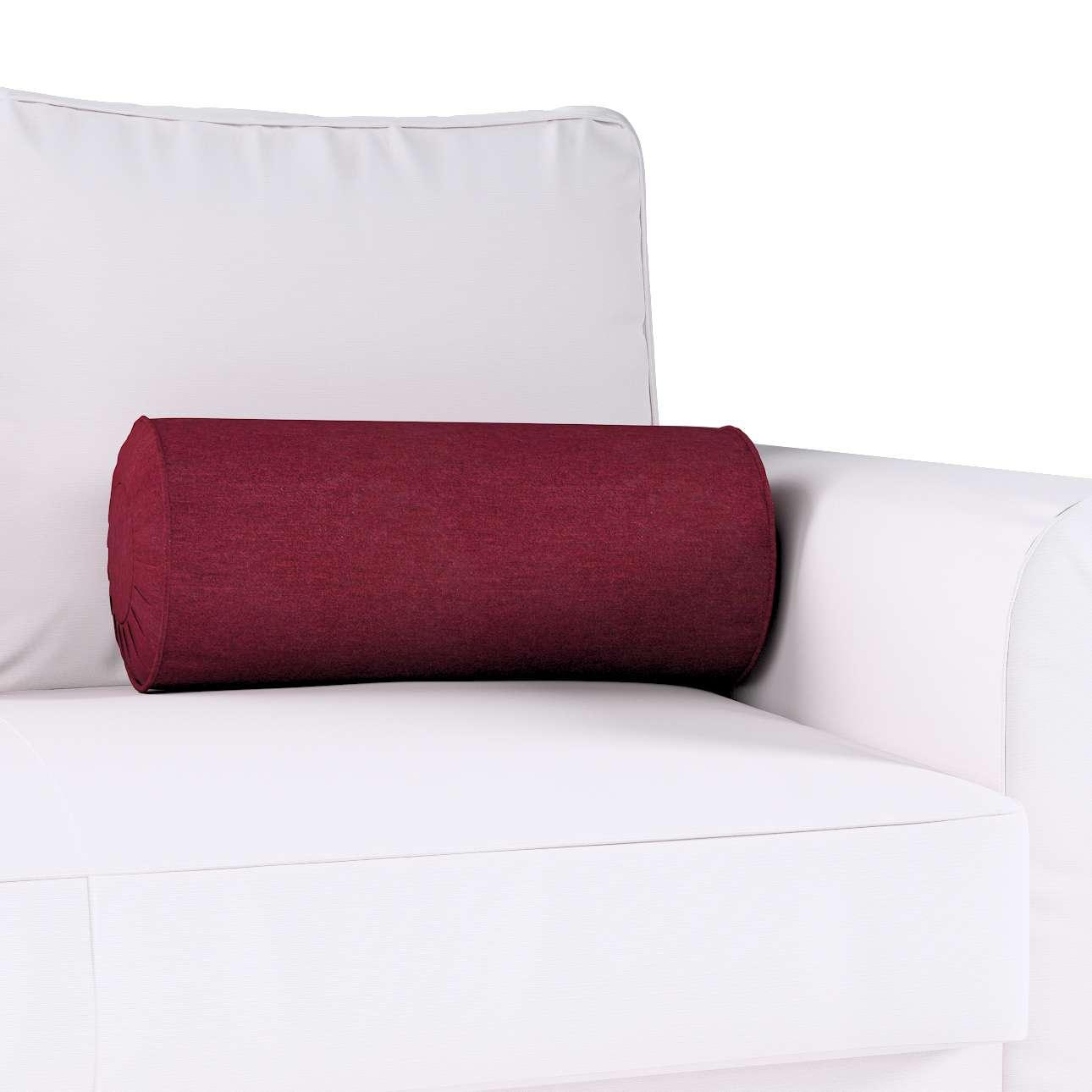 Poduszka wałek z zakładkami w kolekcji Chenille, tkanina: 702-19