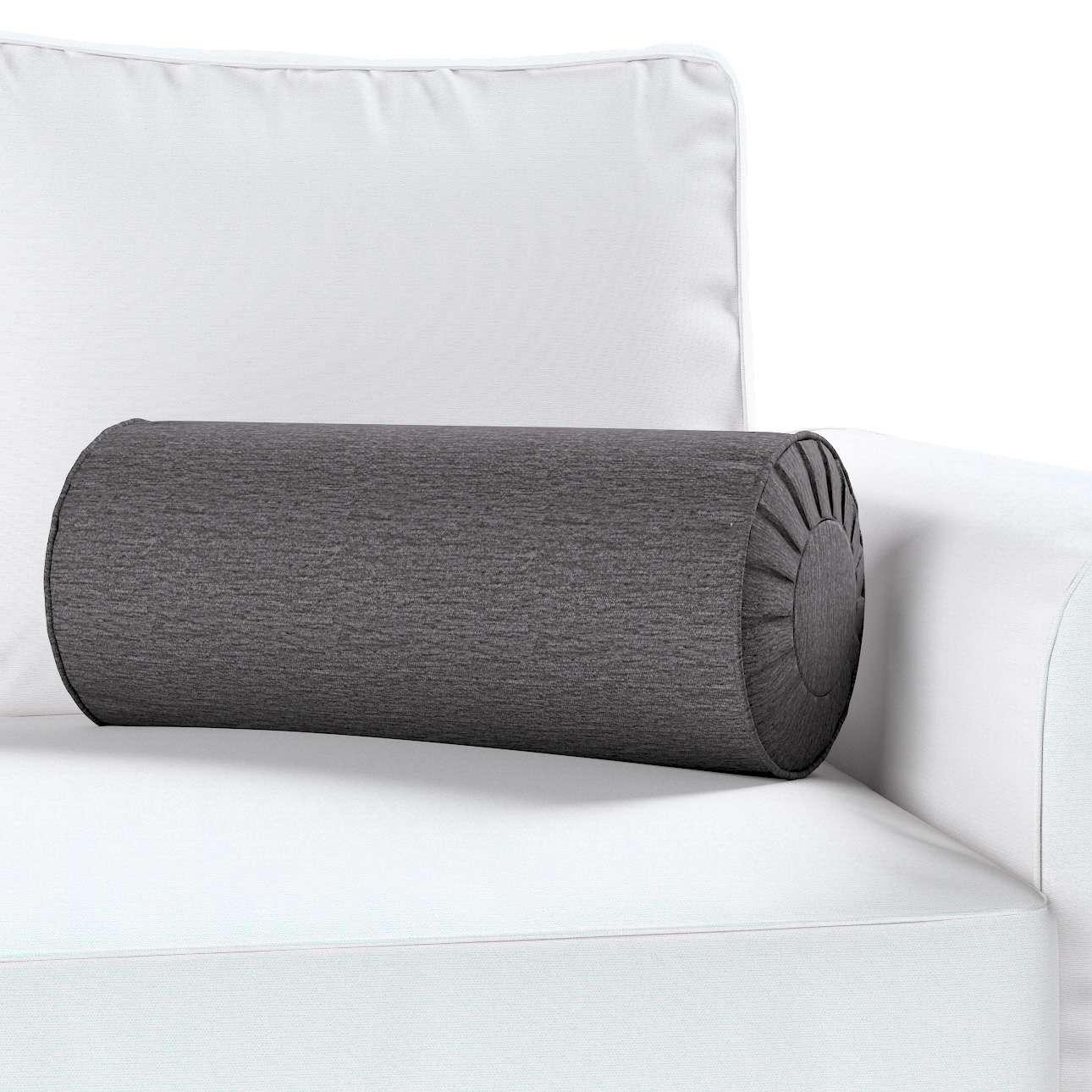 Ritinio formos  pagalvėlė su klostėmis Ø 20 x 50 cm kolekcijoje Chenille, audinys: 702-20