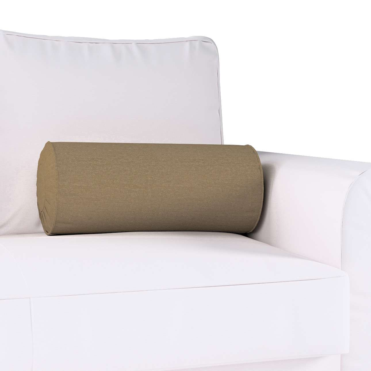 Bolster cushion with pleats in collection Chenille, fabric: 702-21