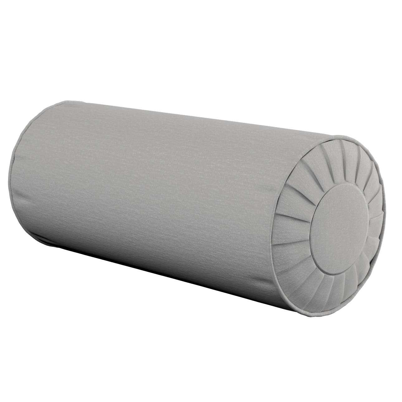 Ritinio formos  pagalvėlės užvalkalas su klostėmis Ø 20 x 50 cm kolekcijoje Chenille, audinys: 702-23