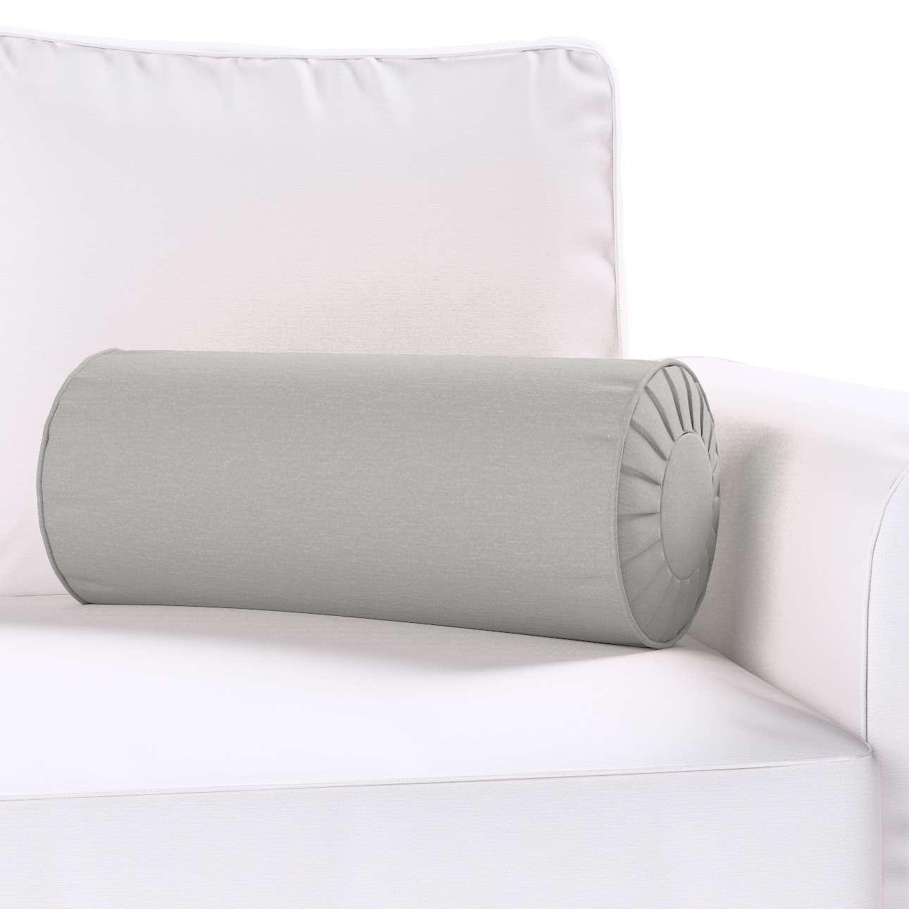 Ritinio formos  pagalvėlė su klostėmis Ø 20 x 50 cm kolekcijoje Chenille, audinys: 702-23