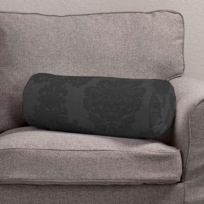 Poduszka wałek z zakładkami 613-32 czarny Kolekcja Damasco
