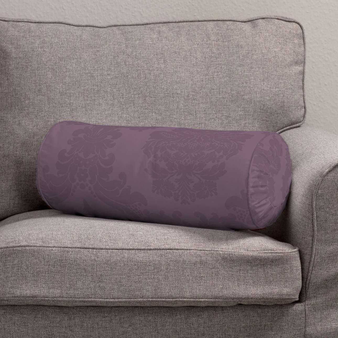 Ritinio formos  pagalvėlė su klostėmis Ø 20 x 50 cm kolekcijoje Damasco, audinys: 613-75